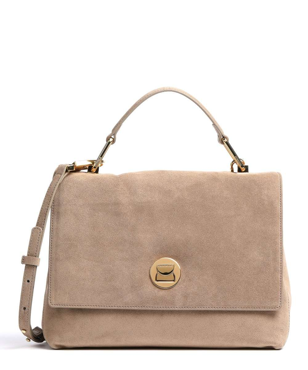 Coccinelle Liya Suede Handtasche taupe Preview