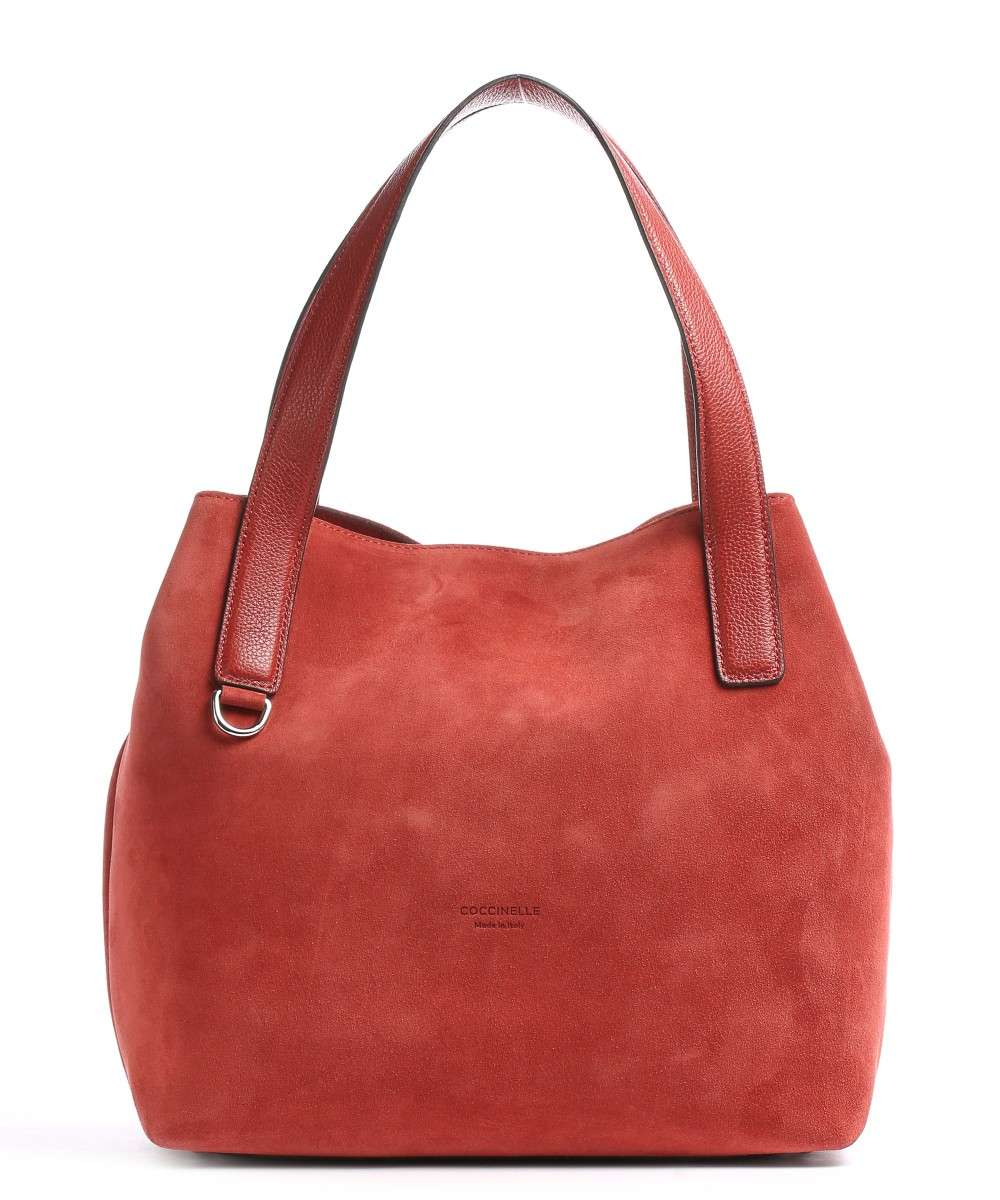 Coccinelle Mila Suede Handtasche rot Preview