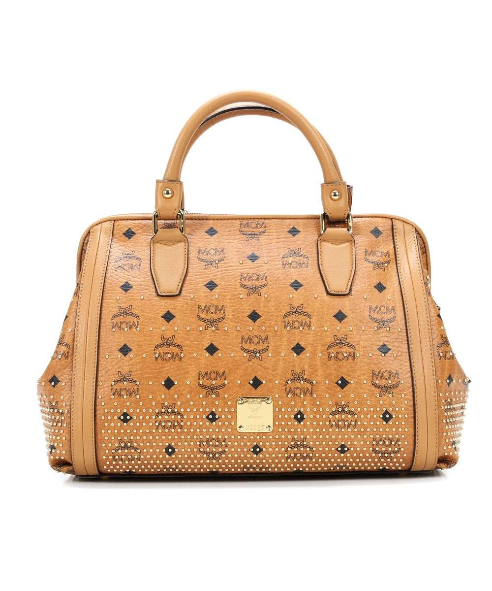 MCM Gold Visetos Handbag cognac Preview