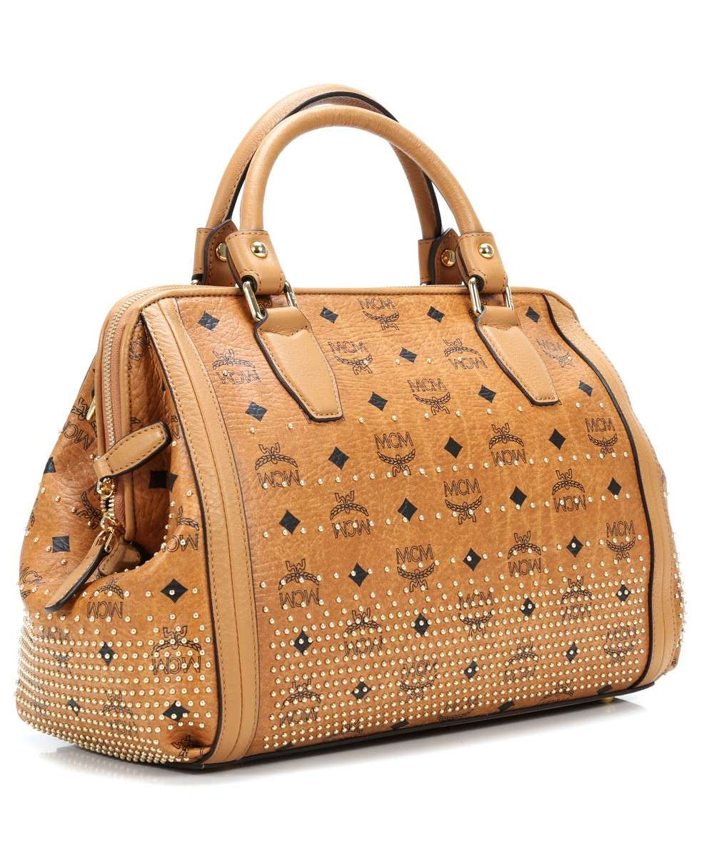 MCM Gold Visetos Handbag cognac-MWB4SVI90CO001-01 Preview