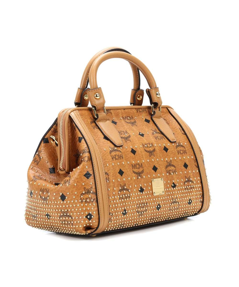 MCM Gold Visetos Handbag cognac-MWB4SVI91CO001-01 Preview