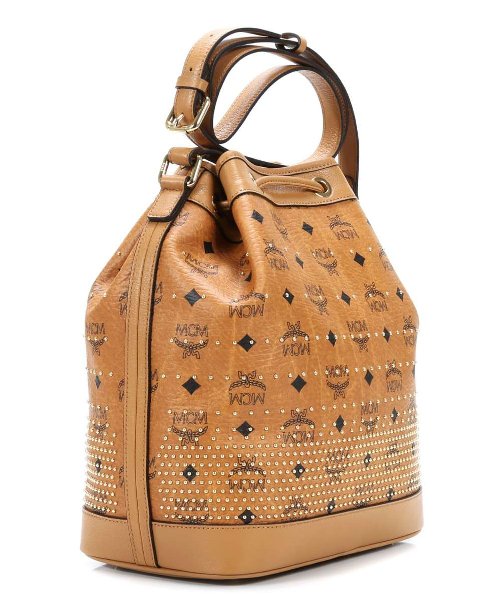 MCM Gold Visetos Hobo bag cognac-MWD4SVI87CO001-01 Preview