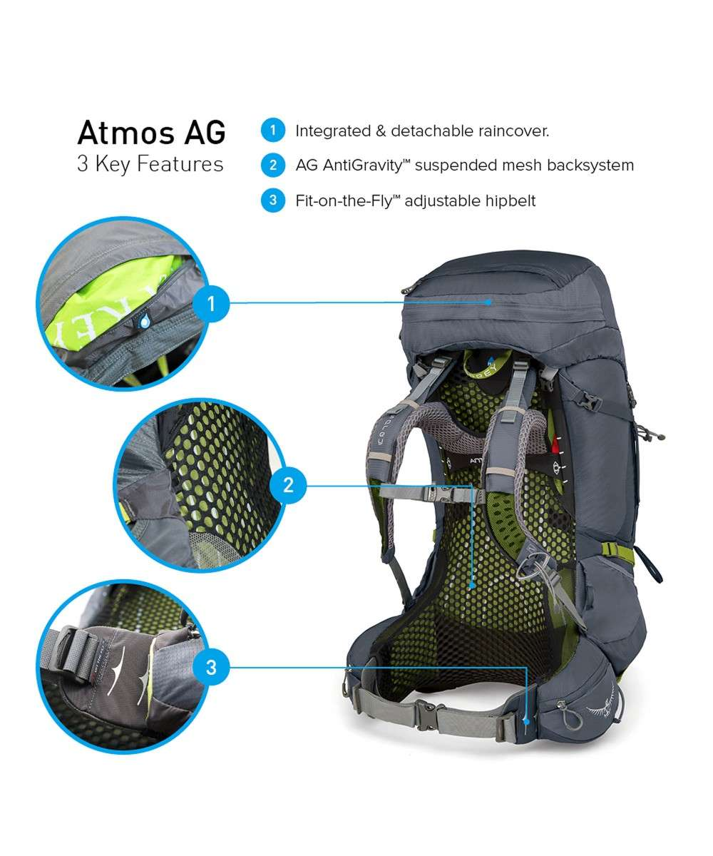 Osprey Atmos AG 50 Back length L Trekkingrucksack blau-5-100-1-3-01 Preview