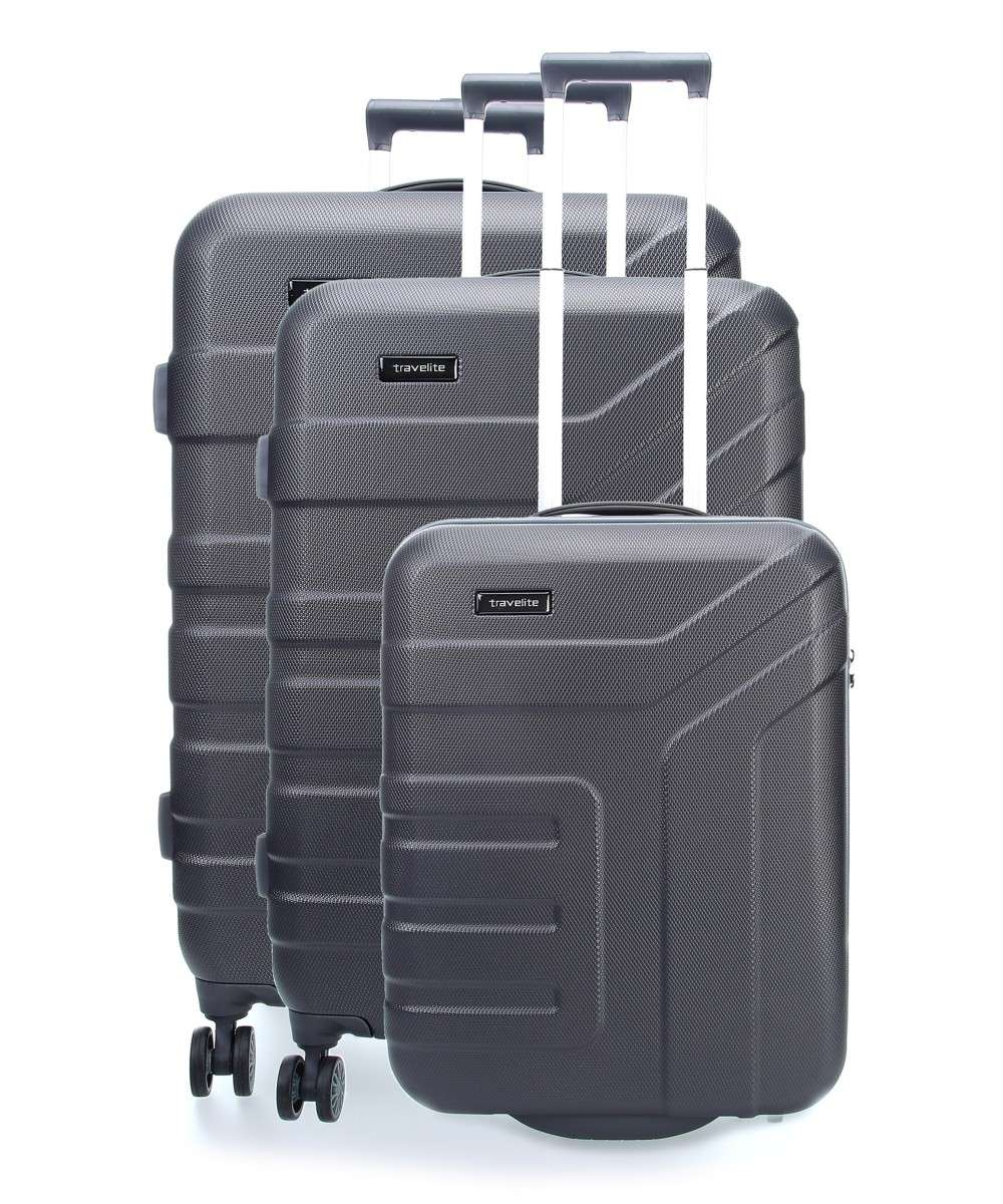 Travelite Vector 4-Rollen Trolley Set anthrazit 3-tlg. Preview